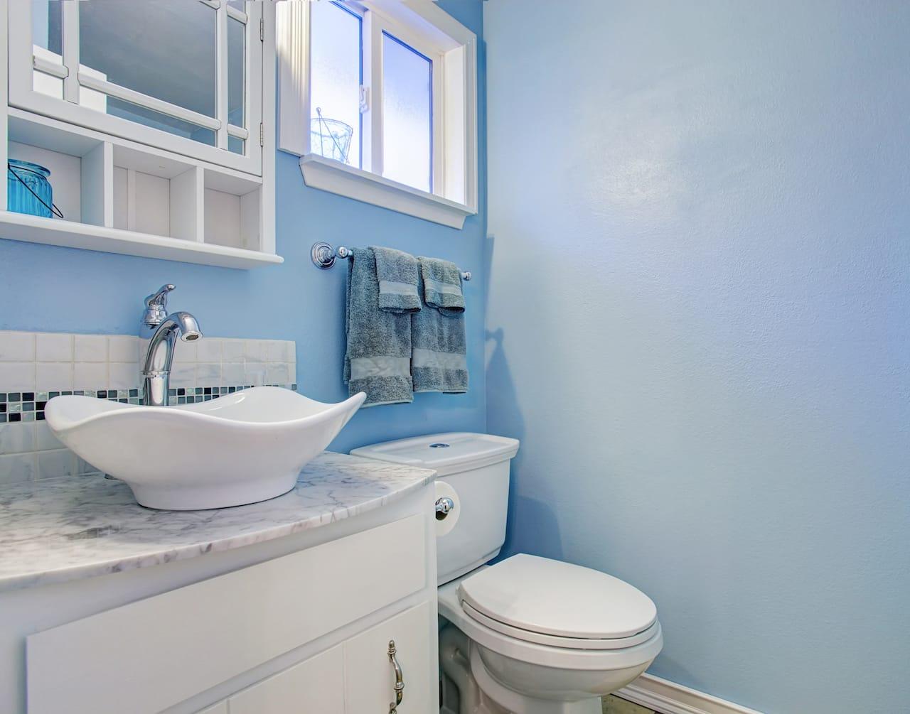 コンテンポラリー風水 コラム 浴室 風呂 青 ブルー